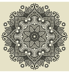 Ornamental geometric doily pattern vector