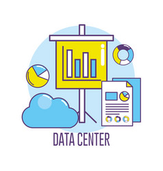 data center connection information server vector image