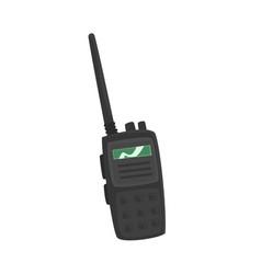 Portable handheld radio cartoon vector