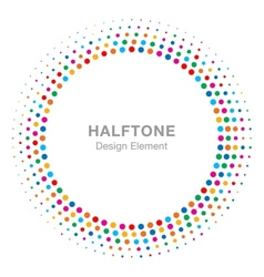 Colorful bright abstract halftone design element vector