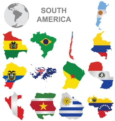 South american countries vector