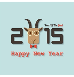 happy new year 2015 year of the goat vector image