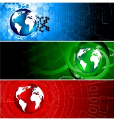 tech colorful banners vector