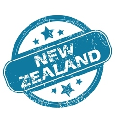 New zealand round stamp vector