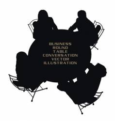 business round table vector image