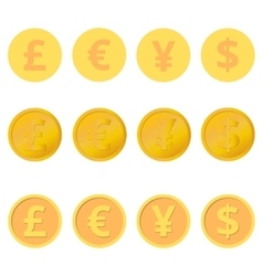 Set of coins vector