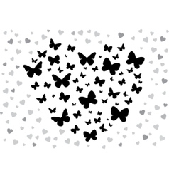 Butterfly black vector