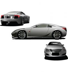 Three cars vector