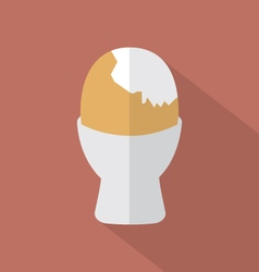 Boiled egg cup icon vector