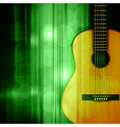 Abstract green music background with acoustic vector