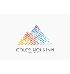 Mountain logo color mountain logo creative logo vector