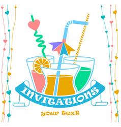 Banner cocktail invitation vector