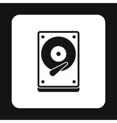 Cd rom icon simple style vector