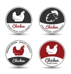 Chicken label vector image