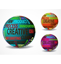 Colorful creative balls vector