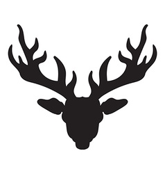 Deer head with horns vector