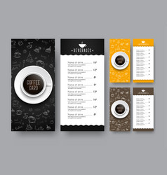 design of a narrow menu for a cafe or restaurant vector image vector image