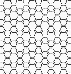 Flat gray with hexagonal stars vector image vector image