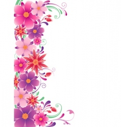 floral background with ornament vector image vector image