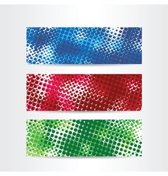 halftone color web banners vector image
