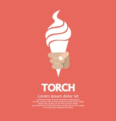 Hand Holding Torch vector image