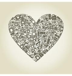 Heart electronics vector