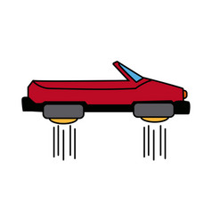 Hover car future technology future transport vector