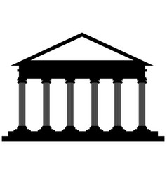 isolated courthouse icon vector image