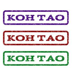 Koh tao watermark stamp vector