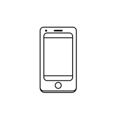 Line technology smartphone to electronic vector