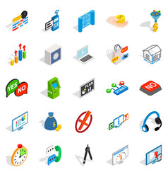 patent icons set isometric style vector image