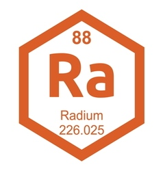 Periodic table radium vector image