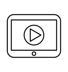 Play movie button flat icon vector