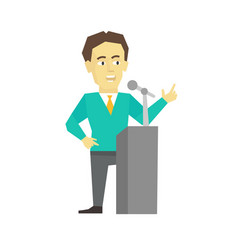 Polemicist speaker business man politician vector