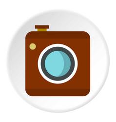 Retro camera icon circle vector