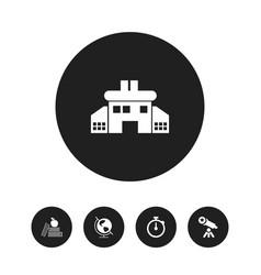 set of 5 editable school icons includes symbols vector image vector image
