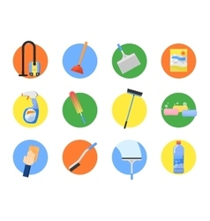 set of cleaning tools vector image