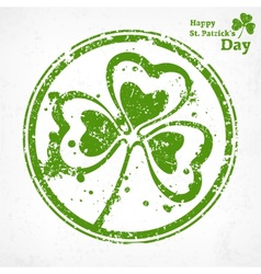 Three leaf clover grunge in vector image