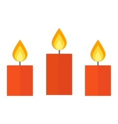 Candle isolated on white vector