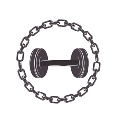 Border with chain inside a disc weights vector