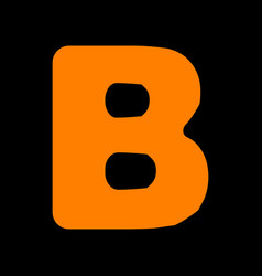 letter b sign design template element orange icon vector image
