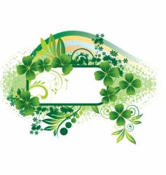 Frame for st patrick's day vector