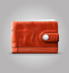 leather purse vector image