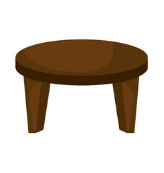 Center table isolated icon vector