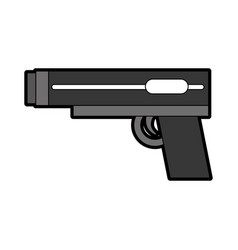Video game gun icon vector