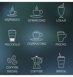 Coffee pictogram on rainy flare background vector