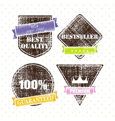 Set of retro vintage grunge labels vector