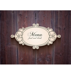 Vintage wood cover background for menu vector