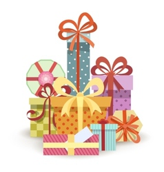 Gift boxes stack vector