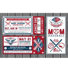 Baseball labels vector